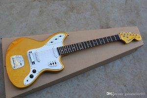 UGFRTE ** 2014 Новое Прибытие ** Высочайшее Качество Фабрика Гитара Золотая Ягуар на заказ Магазин Электрический гитарный Stratocaster В наличии