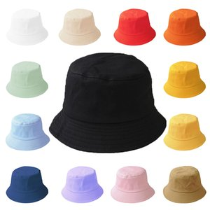 2021 Solid Bucket Hat Women men Panama Hat for Child Cotton Casual Fishermans Hats Outdoor Sunscreen Fishing Hip Hop Sun Caps