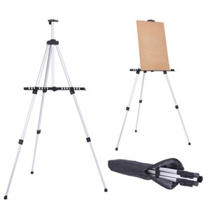 Easel Stand Painting Artist Display Tripod for Event Cofffee Shop Table-Top, Aluminium Adjustable Height with an Carrying Bag by sea GWE9555