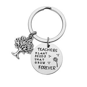 Portachiavi in acciaio inox I semi di piante di impianti che crescono l'albero creativo della decorazione della vita della decorazione della vita regalo del giorno dell'insegnante