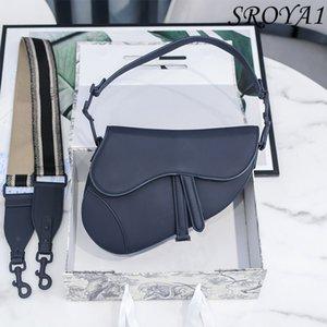 2021 Fashion Leather Saddle Bag Luxury All-match Elegant One-shoulder Diagonal Handbag
