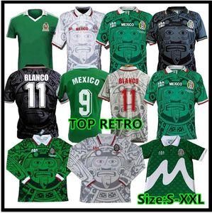 1998 1999 2000 Jersey de football rétro 1995 1997 Edition Court 98 99 Coupe du monde Mexique 95 96 97 Chemise de football Blanco Hernandez
