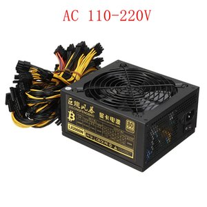 AC 110-220v Chargers ATX Pc 2000W Power Supply 8 Graphics Card Ethereum ETH BTC Mining Antminer Psu For US CA BR Voltage