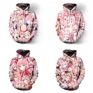 DARLING in the FRANXX hoodies Sweatshirt Anime Zero Two Cosplay Costume Woman Coat Jackets Hooded Top