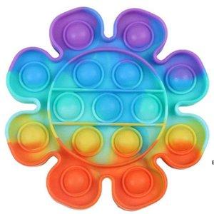 2021 Children's Desktop Puzzle Push Pop It Fidget Toys Simple Dimple Silicone Finger Bubble Sensory Toys Board Game Stress Relief DHD65