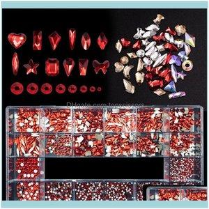 Nail Salon Health & Beautynail Glitter 1 Box Art Rhinestones+1Pc Wax Pen Picker Crystal Gold Red Ab Set Multicolor Flatback Strass Charms De