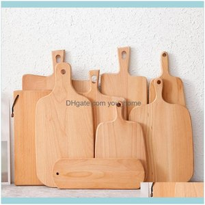Other Knife Knives Aessories Kitchen, Bar Home & Gardenhangable Beech Cutting Board Durable Wooden Chopping Fruit Pizza Sushi Bbq Tray Solid