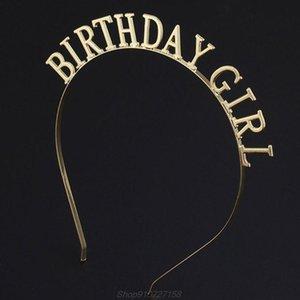 Minimalista mulheres liga de metal fina headband oco out aniversário letras cartas de cabelo polido clipes de gota metálico de outubro barrettes