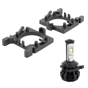 Other Lighting System 2Pcs H7 LED Headlight Bulb Holder Adapter Headlamp Light Lamp Base For Focus Fiesta Mondeo (Low Beam)