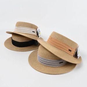 와이드 브림 모자 2021 여성을위한 플랫 탑 페도라 일본 얇은 종이 밀짚 모자 여름 해변 태양 바이저 패션 안티 UV 모자 Visera Mujer