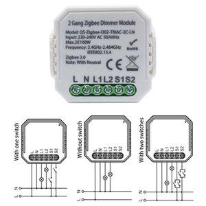 Switches Tuya Zigbee 3.0 Dimmer Smart Switch Module Controller 2 Way Remote Control Relay Google Assistant Alexa MUZ4