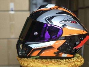 Мотоциклетные шлемы Полное лицо Motorrad Helm X14Orange Reiten Motocross Racing