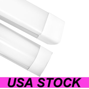 US Stock 4feet Shop Light Fixture 54W LED Tube Lights 5400lm 6000K 4000K 3000K 3 color temperatures Lightss 120cm Garage Closet Lighting for Home Basement