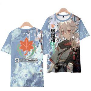 Anime Costumes Genshin Impact T-shirt Cosplay Costumes Maple Yuan Manyo Animation T-shirt Man woman Cartoon Anime Periphery Surprise Gift