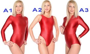 3 Style Red Lycra Spandex Women's Short Catsuit Costumes Sexy Women Bodysuit Costume Halloween Party Fancy Dress Cosplay Suit M518