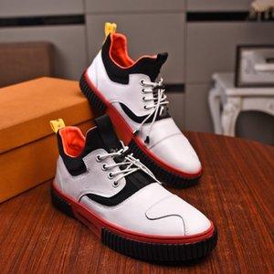 2021 Мужчины Повседневная Обувь Мода Кожаная Круглая головка Сексуальная Учитель Элегантный код Роскошные Дизайнеры 38-46 БОГК6320 Письмо