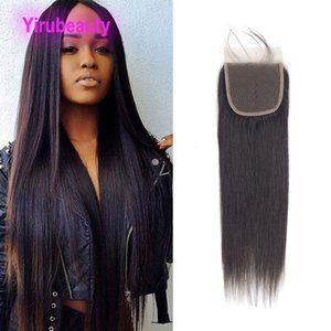Brazilian Virgin Human Hair 5X5 Body Wave Straight Lace Closure Baby Hair Five By Five Top Closures Natural Color 12-24inch Wholesale 5PCS lot