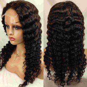 Deep Wave Wig Remy волосы 4x4 5x5 швейцарские прозрачные кружевные фронтские парики для женщин