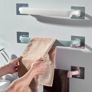 Towel Racks Punch-Free Bathroom Rack Slipper Holder Wall Mounted Hanger Kitchen Wipes Hanging Household Sundries Organizer