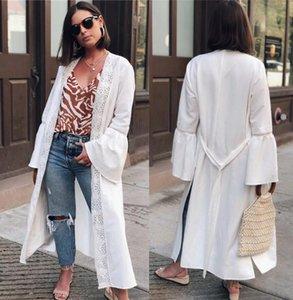 Robe de patchwork de lacets Patchwork Robe Plage Blanc Coton Beach Coverup Femmes Tunique Tunique Kimono Cardigans Cardigans Bikini Combinaison de bain Couverture Matériel UPS Femmes SWI SWI