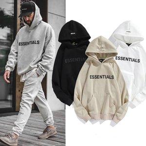2021 hommes européens hoodies et sweatshirts Street Brand Ogo Essentials Stéréo Lettre Mode Femmes femmes Oversize Summer Lovers lâche moitié manches marée vêtements de sport