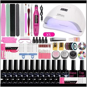 Kits Salon Health Beauty Drop Delivery 2021 A2 Led Lamp Manicure Set Soak Off Varnish Gel Nail Polish For Art Electric Dril Tool Awe8G