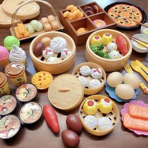 kitchen Simulation Play House KitchenChildren's toys baby breakfast simulation food steamed buns boys and girls cooking setSnack Food Cognit