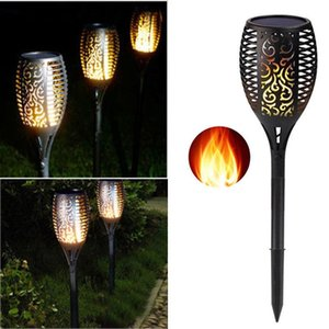 2021 Solar LED Flame Lamp Outdoor Torch Lights Safety Waterproof Flicker for Garden Decoration Automatic On Dusk