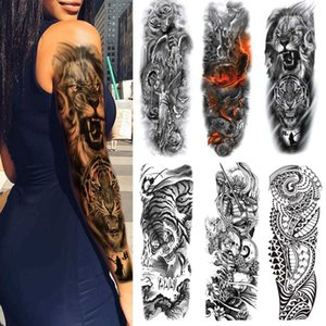 4 шт. Полная рука Водонепроницаемые временные татуировки наклейки для женщин Мужчины Хэллоуин Party Masquerade