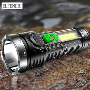 Mini Flashlights Strong Light Rechargeable Ultra-bright Special Household Outdoor Portable Multifunctional Led Long-range Lamp 210608