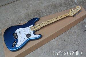 2020 Top Quality all'ingrosso Stratocaster in acero data in acero chitarra elettrica a sinistra collo chitarra elettrica