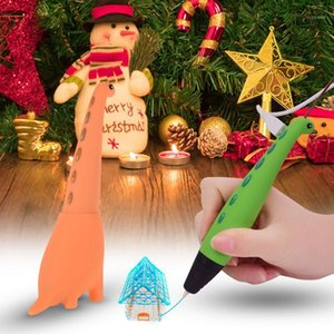 Other Pens 3D Pen Adorable Dinosaur Shaped Intelligent Drawing Printer 2 Speeds Safe Easy Control Educational Toys Gift For Kids1