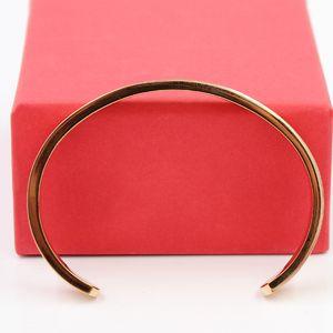 Lüks Manşet Tasarım Yüksek Qualtiy BraceletsBangles Lover Paslanmaz Çelik Açılış Bilezikler Düğün Takı