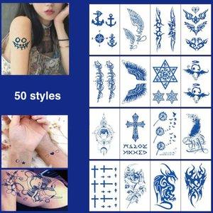 Juice Lasting Waterproof Temporary Tattoo Sticker Flower Chain Butterfly Ink Flash Tattoos Female Waist Sexy Body Art Fake Tattoo J036 DHL