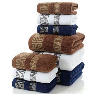 Мягкие хлопковые банные полотенца Большое абсорбирующее пляжное лицо полотенце дома Ванная комната Отель для взрослых детей