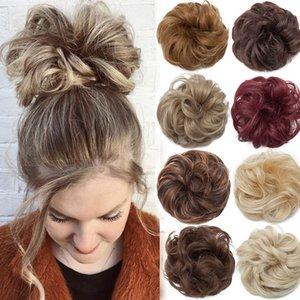 Snoilite Женщины Screunchies Волосы Эластичные Волосы BUN Chignon Hairpieces Синтетические Принадлежности для волос Принадлежности для волос Понятие для женщин