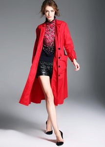 Women's Trench Coats Boollili Fashion 2021 Women Spring Autumn Long Coat Windbreaker Outwear Slim Ladies Casaco Feminino