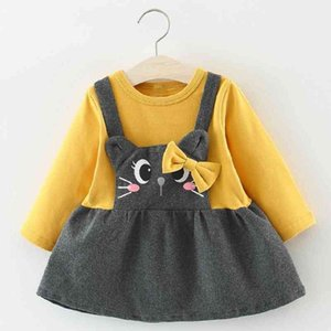 Menoea 1 year birthday Autumn style children's clothes baby girl christening gowns newborn tutu Sleeve dress 210317