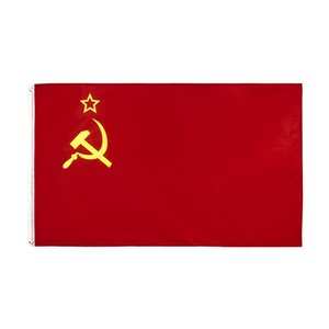 Russian Hammer Sickle Banner Soviet Union Russia USSR Flag Wholesale Freeshipping Stock Direct Factory Hanging 90x150cm 3x5ft GWD10778