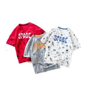 Mangas curtas t-shirt roupas de verão meninos soltos moletons de algodão infantil Tees menina