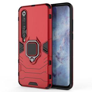 500 PCS Ímã Sucção Armadura Hard Case Kickstand Cobertura Prova ao choque Suporte para Xiaomi MI Nota 10 Pro 9 SE CC9 CC9E 9T 8 Lite