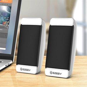 USB Wired Computer Speakers 2 Pieces PC Elevation Angle Horns for Laptop Desktop Phone Audio Speaker Multimedia Loudspeaker