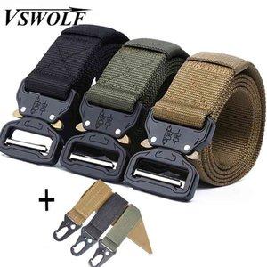 Cinto Tático Exército Militar Nylon Jeans Cinto Homens de Alta Qualidade Fivela De Metal Ceinture Ceinture Cintura Cintura Caçando Cinto 210324