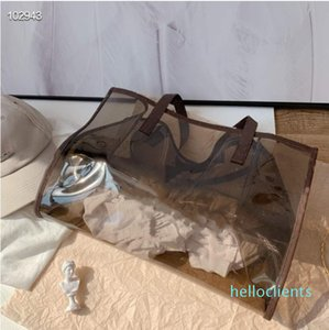 The latest 2020 jelly bags are designed by the designer. Women's colorful portable travel bag, one shoulder beach bag, two-piece set