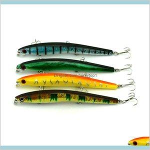 Hengjia Fishing Lures Minnow Arrive! 4Color 13Cm 13.9G 4#Hooks 20Pcs Lot Minnow Pesca Baits With Sharp Hooks Jhsyx Chjmx