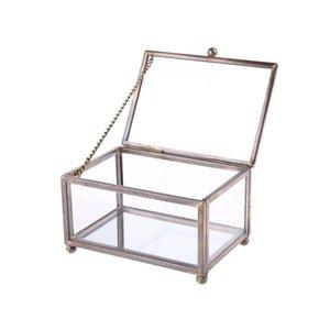 Северное прозрачное стекло обручальное кольцо коробки вечного цветочного хранения Держатель Decor Drop ящики BINS