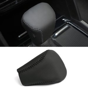 Car Accessories PU Hand Brake Gear Shift Knob Top Head Collar Cover DIY Sewing for VW Volkswagen Atlas Teramont