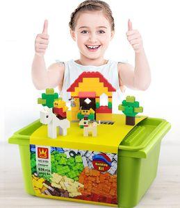 626 PCS Puzzle Bloques de construcción Kits DIY Juguetes Ladrillos Coloridos Accesorios Para Niños Niños Creativo Educativo Design Regalo 05