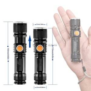 T6 L2 USB Highlight Handy Powerful Alloy Flashlight Power Tips Aluminum Waterproof Zoomable Mini Flashlight 18650 Rechargeable