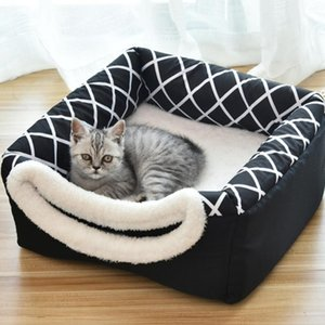 Kennels & Pens Cat Sleeping House Mat Warm Soft Bed For Dogs Cats Pet Dog Dual-Use Pad Nest Non-slip Breathable Kennel L XL #1